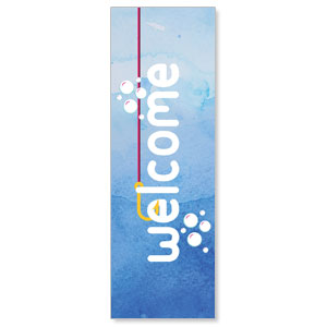 Ocean Buddies Welcome 2' x 6' Banner