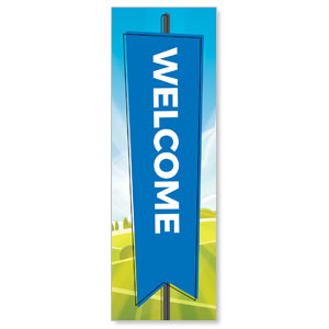 Bright Meadow Welcome 2' x 6' Banner