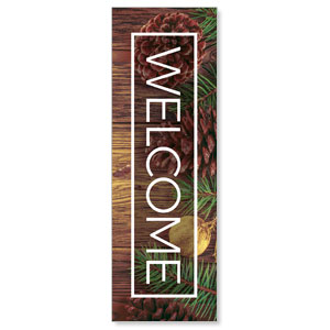 Wooden Slats Winter 2' x 6' Banner