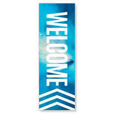 Chevron Welcome Blue Banner