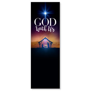 God With Us Advent 2' x 6' Banner
