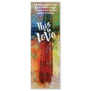 This is Love Easter 2' x 6' Banner