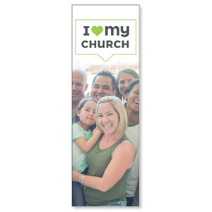 ILMC Believe Love Serve 2' x 6' Banner