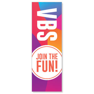 Curved Colors VBS Join the Fun 2' x 6' Banner