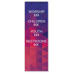 Geometric Bold Directional 2' x 6' Banner