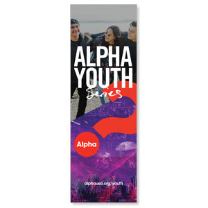 Alpha Youth Purple 2' x 6' Banner