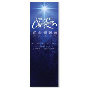 The Cast of Christmas 2' x 6' Banner