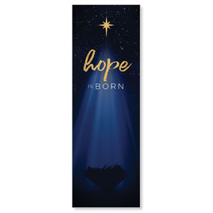 Christmas Star Hope is Born 2' x 6' Banner