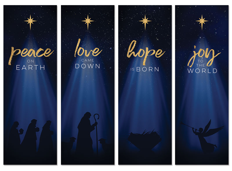 Christmas Star Hope is Born Advent Set Banner - Church Banners - Outreach  Marketing