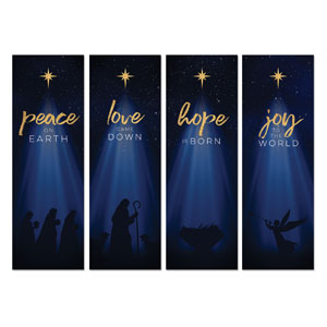 Christmas Star Hope is Born Advent Set 2' x 6' Banner