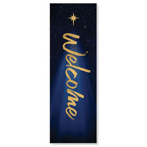 Christmas Star Hope is Born Welcome 2' x 6' Banner
