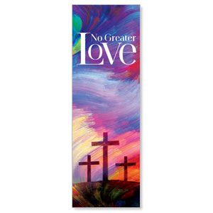 No Greater Love 2' x 6' Banner