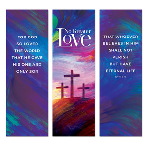No Greater Love Triptych 2' x 6' Banner