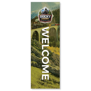 Rocky Railway Welcome 2' x 6' Banner
