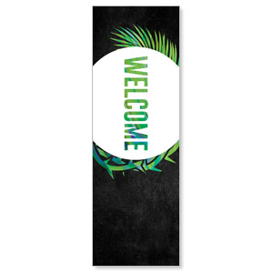 Easter Palm Crown Welcome 2' x 6' Banner