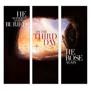 Third Day Triptych 2' x 6' Banner