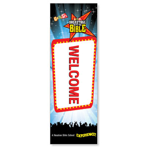 Go Fish Backstage With The Bible Welcome 2' x 6' Banner