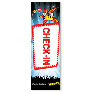 Go Fish Backstage With The Bible Check-In 2' x 6' Banner