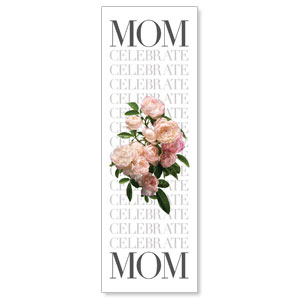 Celebrate Mom Flowers 2' x 6' Banner