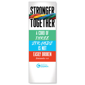 BTCS Stronger Together Scripture 2' x 6' Banner