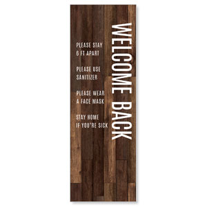 Walnut Welcome Guidelines 2' x 6' Banner