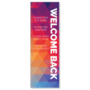 Geometric Bold Welcome Guidelines 2' x 6' Banner