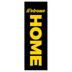 Black Welcome Home 2' x 6' Banner