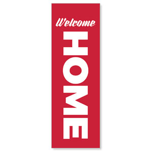 Red Welcome Home 2' x 6' Banner