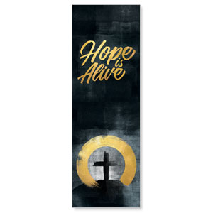 Hope Is Alive Gold 2' x 6' Banner