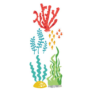 Ocean Buddies Sea Plants 1 StickUp