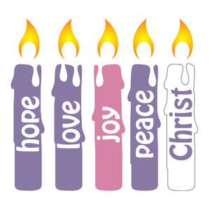 Advent Candles Set Banners