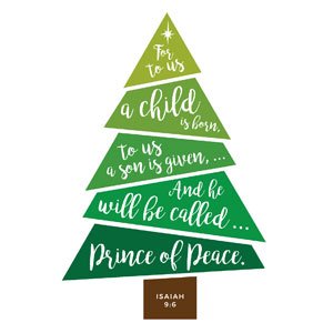 Scripture Christmas Tree StickUp