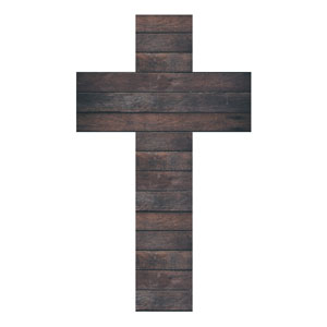 Dark Wood Cross StickUp
