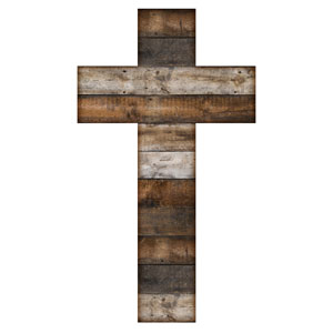 Stained Wood Cross Banners