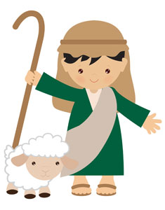 Children's Nativity Shepherd 1 StickUp
