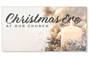 Christmas Eve Snowy Candle Social Media Ad Packages