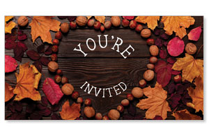 Fall in Love You're Invited Social Media Ad Packages