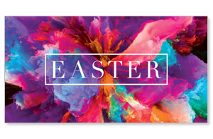 Easter Color Smoke Outline Social Media Ad Packages