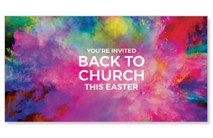 Back to Church Easter Colors Social Media Ad Packages
