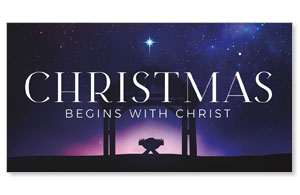 Begins With Christ Manger Star Social Media Ad Packages