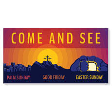 Easter Sunday Graphic Come and See
