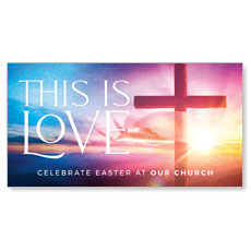 Love Easter Colors Cross