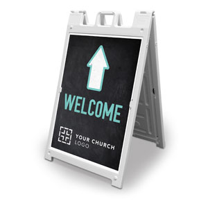 Slate Welcome 2' x 3' Street Sign Banners