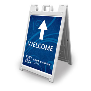Flourish Welcome 2' x 3' Street Sign Banners