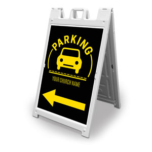 Parking Yellow 2' x 3' Street Sign Banners