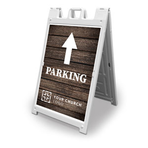 Rustic Charm Parking 2' x 3' Street Sign Banners