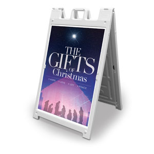 The Gifts of Christmas Advent 2' x 3' Street Sign Banners