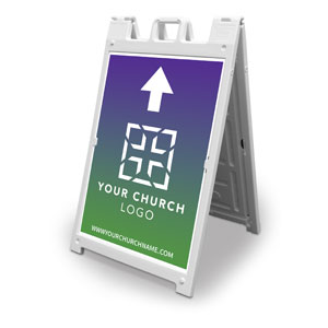 Color Wash Logo 2' x 3' Street Sign Banners
