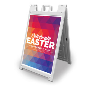 Geometric Bold Easter 2' x 3' Street Sign Banners