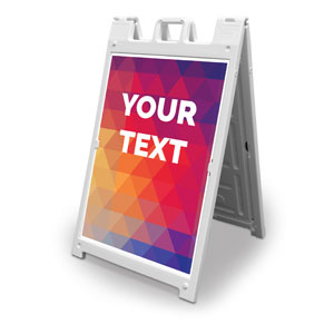 Geometric Bold Your Text Here 2' x 3' Street Sign Banners